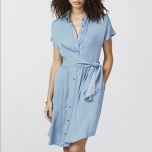 WRAPSHIRT CHAMBRAY DRESS by Rachel Roy Blue 8